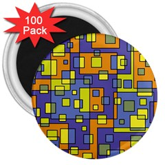 Square Background Background Texture 3  Magnets (100 pack)