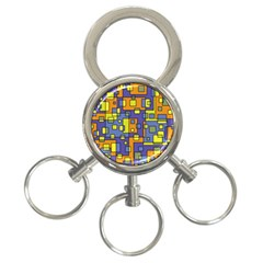 Square Background Background Texture 3 Ring Key Chains