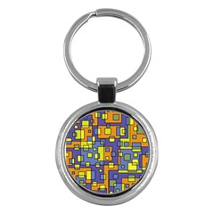 Square Background Background Texture Key Chains (round)