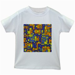 Square Background Background Texture Kids White T Shirts