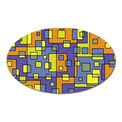 Square Background Background Texture Oval Magnet