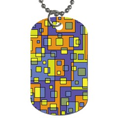 Square Background Background Texture Dog Tag (one Side)