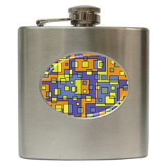 Square Background Background Texture Hip Flask (6 Oz)