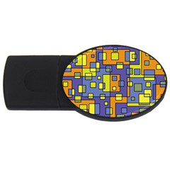 Square Background Background Texture Usb Flash Drive Oval (2 Gb)