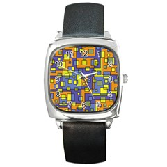 Square Background Background Texture Square Metal Watch