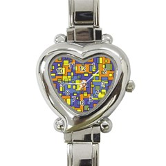 Square Background Background Texture Heart Italian Charm Watch