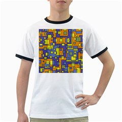Square Background Background Texture Ringer T Shirts