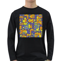 Square Background Background Texture Long Sleeve Dark T Shirts