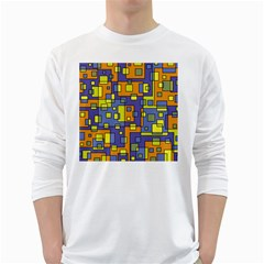Square Background Background Texture White Long Sleeve T-Shirts