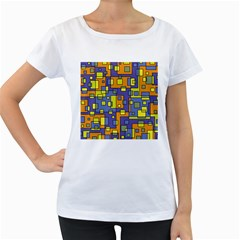 Square Background Background Texture Women s Loose Fit T Shirt (white)