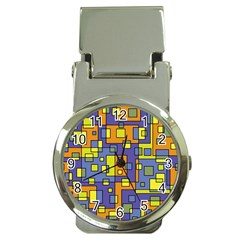 Square Background Background Texture Money Clip Watches
