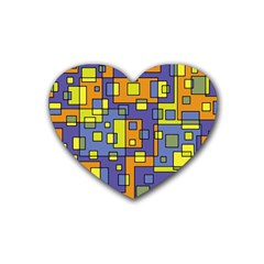 Square Background Background Texture Rubber Coaster (heart)