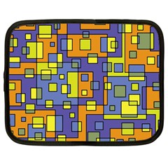 Square Background Background Texture Netbook Case (large)