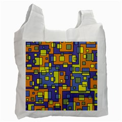 Square Background Background Texture Recycle Bag (two Side)