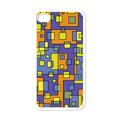 Square Background Background Texture Apple Iphone 4 Case (white)