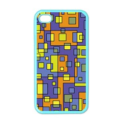 Square Background Background Texture Apple Iphone 4 Case (color)