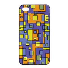 Square Background Background Texture Apple Iphone 4/4s Seamless Case (black)
