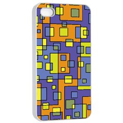 Square Background Background Texture Apple Iphone 4/4s Seamless Case (white)