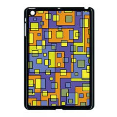 Square Background Background Texture Apple Ipad Mini Case (black)