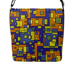 Square Background Background Texture Flap Messenger Bag (l)