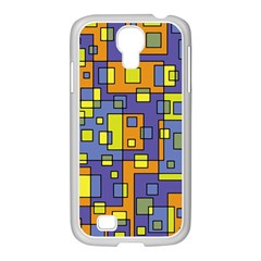 Square Background Background Texture Samsung Galaxy S4 I9500/ I9505 Case (white)