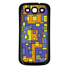 Square Background Background Texture Samsung Galaxy S3 Back Case (black)