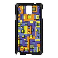 Square Background Background Texture Samsung Galaxy Note 3 N9005 Case (black)