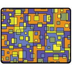 Square Background Background Texture Double Sided Fleece Blanket (medium)