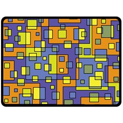 Square Background Background Texture Double Sided Fleece Blanket (large)