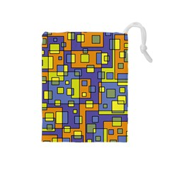 Square Background Background Texture Drawstring Pouches (medium)