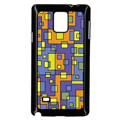 Square Background Background Texture Samsung Galaxy Note 4 Case (black)