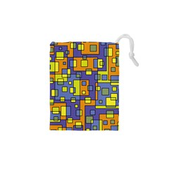 Square Background Background Texture Drawstring Pouches (xs)