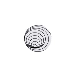 Spiral Eddy Route Symbol Bent 1  Mini Buttons
