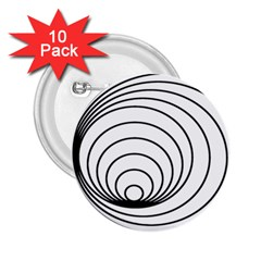 Spiral Eddy Route Symbol Bent 2 25  Buttons (10 Pack)