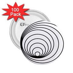 Spiral Eddy Route Symbol Bent 2 25  Buttons (100 Pack)
