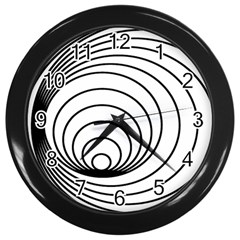 Spiral Eddy Route Symbol Bent Wall Clocks (black)