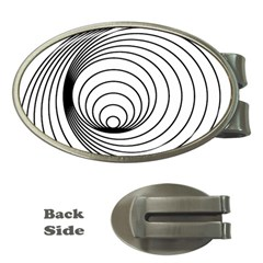 Spiral Eddy Route Symbol Bent Money Clips (oval)