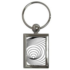 Spiral Eddy Route Symbol Bent Key Chains (Rectangle)