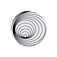 Spiral Eddy Route Symbol Bent Rubber Round Coaster (4 pack)
