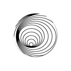 Spiral Eddy Route Symbol Bent Magnet 3  (round)