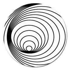 Spiral Eddy Route Symbol Bent Magnet 5  (Round)