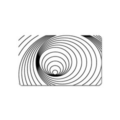 Spiral Eddy Route Symbol Bent Magnet (Name Card)