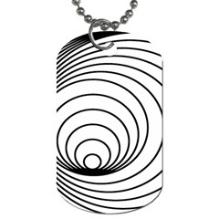Spiral Eddy Route Symbol Bent Dog Tag (two Sides)