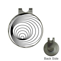Spiral Eddy Route Symbol Bent Hat Clips With Golf Markers