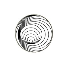 Spiral Eddy Route Symbol Bent Hat Clip Ball Marker