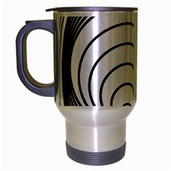 Spiral Eddy Route Symbol Bent Travel Mug (silver Gray)