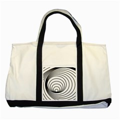 Spiral Eddy Route Symbol Bent Two Tone Tote Bag