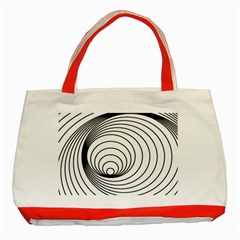 Spiral Eddy Route Symbol Bent Classic Tote Bag (Red)