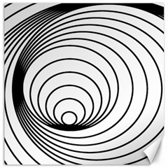 Spiral Eddy Route Symbol Bent Canvas 16  X 16