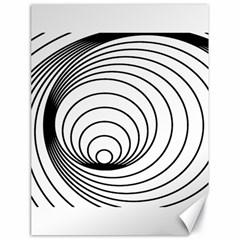 Spiral Eddy Route Symbol Bent Canvas 18  X 24